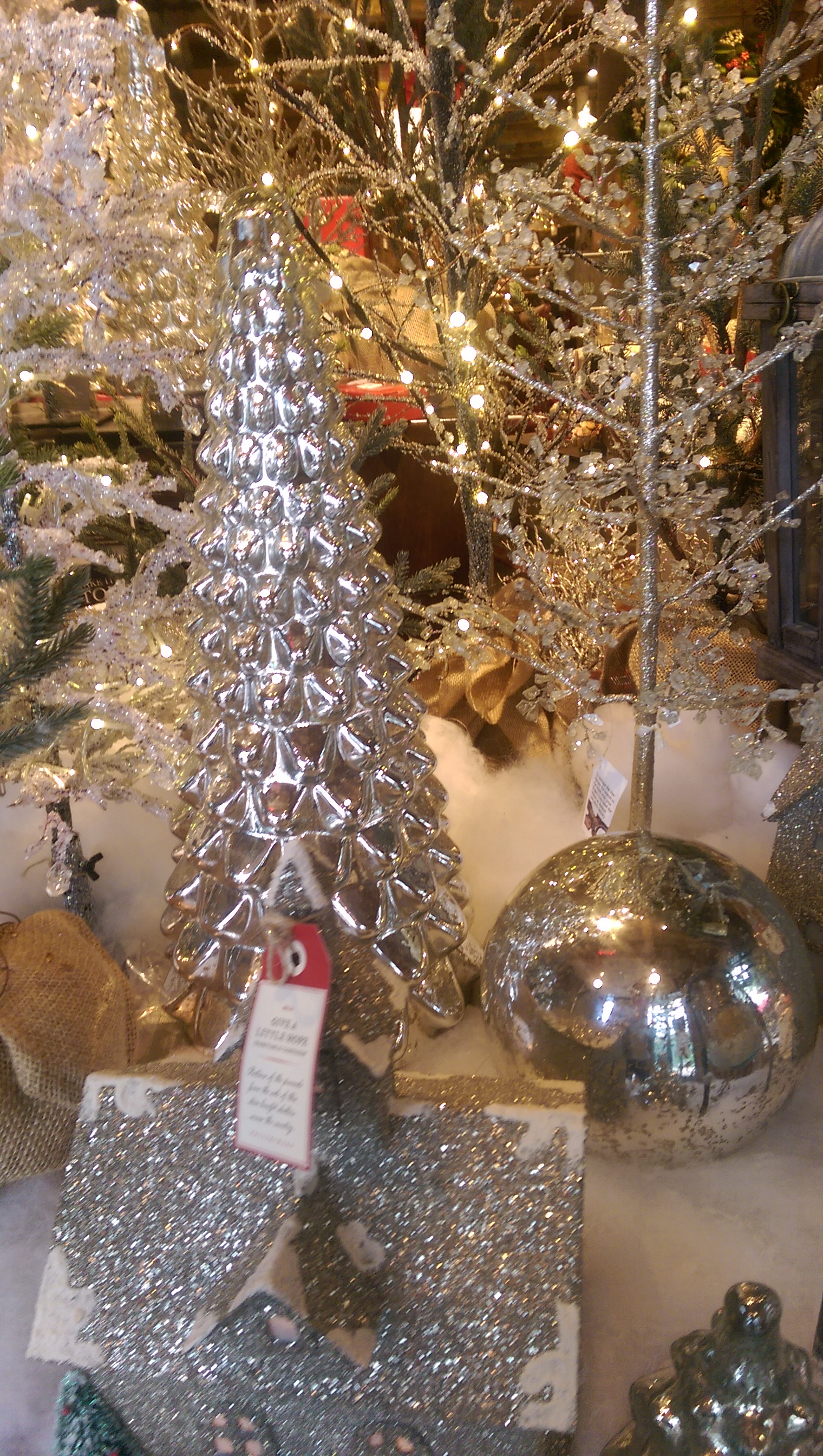 Pottery barn christmas ornaments - The Mercury Glass Christmas Treee Collection Comes In Different Sizes From 17 Inches To 26 Inches Tall Check Your Local Store For Availability